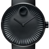 Movado Edge Staal 41mm Zwart