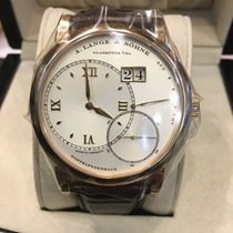 A. Lange & Söhne Rose gold Manual winding White Roman numerals 38mm pre-owned Grand Lange 1