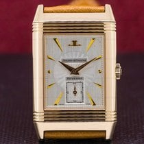 Jaeger-LeCoultre Rose gold Manual winding Silver 42mm pre-owned Reverso (submodel)