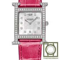 Hermès Heure H Stahl 26mm Perlmutt