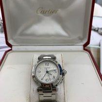 Cartier Pasha C Staal 35mm Grijs Arabisch