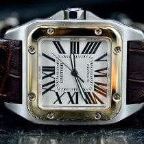 Cartier Santos 100 Gold/Steel 38mm Silver Roman numerals United States of America, Michigan, Southfield