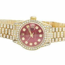 Rolex Automatic Red 26mm pre-owned Lady-Datejust