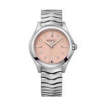 Ebel Wave 1216303 EBEL WAVE Grande 35mm acciaio quadr rosa diamanti new