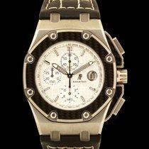 Audemars Piguet Titan Automatik Silber 42mm gebraucht Royal Oak Offshore Chronograph