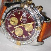 Breitling Chronomat Evolution Stahl 44mm Braun Keine Ziffern