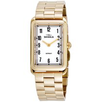 Shinola The Muldowney White Dial Stainless Steel Ladies Watch...