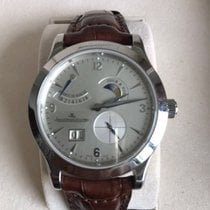 Jaeger-LeCoultre Manual winding 2009 pre-owned Master Eight Days Silver