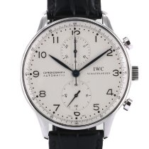 IWC Portuguese Chronograph tweedehands 41mm Staal