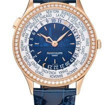 Patek Philippe Rose gold Automatic Blue Arabic numerals 36mm new World Time