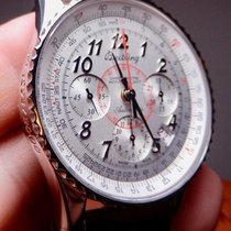 Breitling Montbrillant Steel 40mm Silver United States of America, North Carolina, Winston Salem