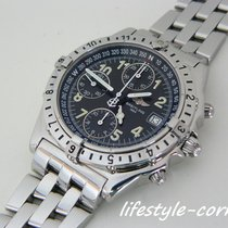Breitling Chronomat GMT Steel 40,5mm Black Arabic numerals