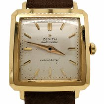 Zenith Yellow gold Silver 33mm pre-owned