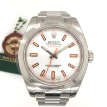 Rolex Milgauss Steel 40mm White No numerals