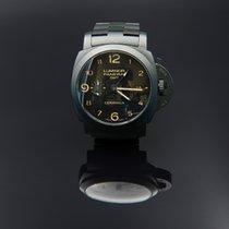Panerai Luminor 1950 3 Days GMT Automatic pre-owned 44mm Black Date GMT Ceramic