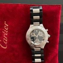 Cartier 21 Chronoscaph Stahl 38mm Schwarz