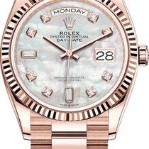 Rolex Day-Date 36 Roségold 36mm Perlmutt