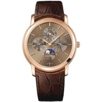 Audemars Piguet Jules Audemars Rose gold 41mm Brown No numerals