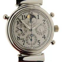IWC Platinum Automatic White Arabic numerals 41.5mm pre-owned Da Vinci Perpetual Calendar