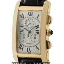Cartier Tank Collection Tank Americaine Chronograph 18k Yellow...