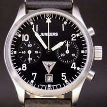 Junkers Flieger-Chronograph Handaufzug Glasboden  Vintage-Lede...