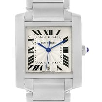 Cartier Tank Francaise Silver Dial Automatic Watch Model W51002q3