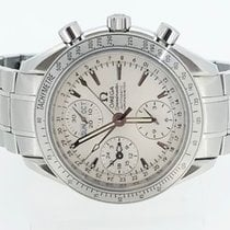 Omega Speedmaster Chronograph Day Date Silver Dial 3221.30