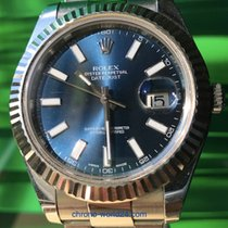 Rolex Datejust II Ref. 116334 blue dial 2012 box/papersTOP