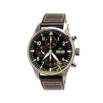 IWC Pilot Chronograph IW377713 IWC Aviatore Chrono Automatico Marrone Pelle 43mm new