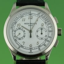 Patek Philippe White Gold Chrongraph appears unworn full set 2015