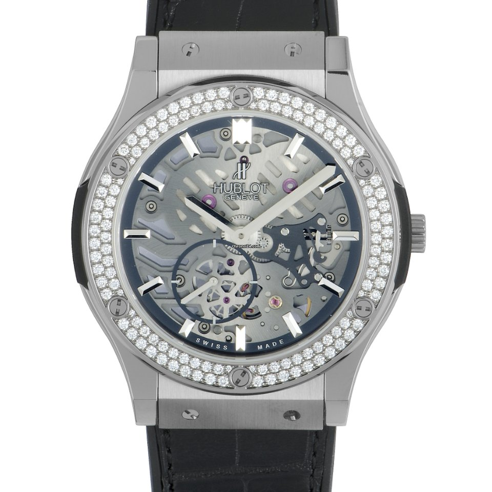 Classic Titanium Diamonds 515 lr Classico 45 nx 0170 1104 Ultra Fusion Mm Hublot Watch Thin KJlF1c