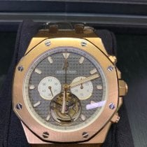 Audemars Piguet Rose gold 44mm Manual winding Audemars Piquet Royal Oak Rose Gold Tourbillon pre-owned