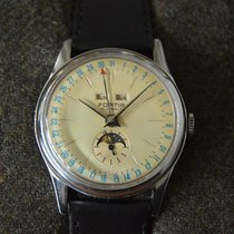 Fortis Steel 37mm Manual winding 6076 pre-owned United Kingdom, Cardiff