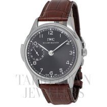 IWC White gold Manual winding Grey Arabic numerals 43mm pre-owned Portuguese Minute Repeater