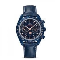 Omega Céramique Remontage manuel Bleu 44.2mm nouveau Speedmaster Professional Moonwatch Moonphase