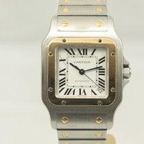 Cartier Santos (submodel) Gold/Steel 35.1mm Silver Roman numerals