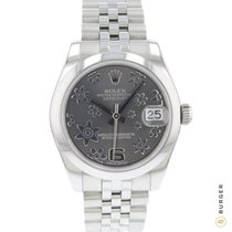 Rolex Lady-Datejust Steel 31mm Grey Arabic numerals