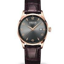 Union Glashütte Rose gold Automatic Grey Arabic numerals 42mm new Noramis Gold