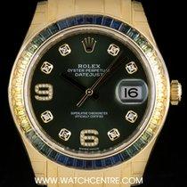 Rolex 18k YG Unworn O/P Sapphire & Dia Set Datejust...