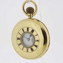 J. W BENSON solid 18K Yellow Gold Half Hunter English Pocket...
