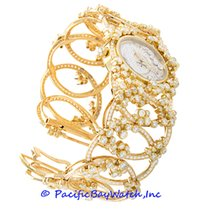 Audemars Piguet Yellow gold Manual winding Mother of pearl 25mm new Millenary Ladies
