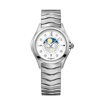 Ebel Wave 1216372 EBEL WAVE Lady Moonphase 30mm acciaio e argento new