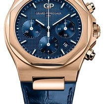 Girard Perregaux Rose gold Automatic Blue new Laureato