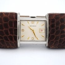 Movado Ermeto Leather Case Travel Watch