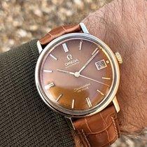 Omega Seamaster De Ville brown tropical dial men's vintage watch