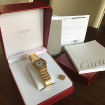 Cartier Santos Galbée tweedehands 33mm Geelgoud