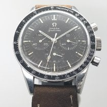 Omega Steel Manual winding Black No numerals 40mm pre-owned Speedmaster Professional Moonwatch