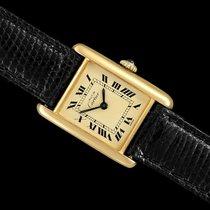 Cartier Tank Vermeil usados 21mm Acero y oro