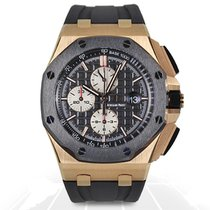 Audemars Piguet Royal Oak Offshore Chronograph Rose gold 44mm Black No numerals