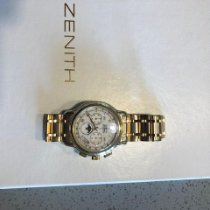 Zenith El Primero Chronomaster pre-owned 40mm White Moon phase Chronograph Date Weekday Month Yellow gold